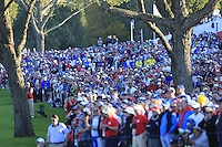 Crowds watch the action on the 16th green during the Friday afternoon fourball at the Ryder Cup, Hazeltine national Golf Club, Chaska, Minnesota, USA.  30/09/2016<br /> Picture: Golffile | Fran Caffrey<br /> <br /> <br /> All photo usage must carry mandatory copyright credit (&copy; Golffile | Fran Caffrey)