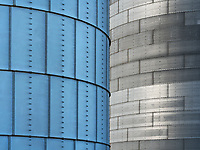 Designs of grain elevators in the Palouse area of Washington.