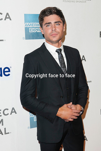 NEW YORK, NY - APRIL 19: Zac Efron attends the 'At Any Price' New York premiere during the 2013 Tribeca Film Festival on April 19, 2013 in New York City. ..Credit: MediaPunch/face to face..- Germany, Austria, Switzerland, Eastern Europe, Australia, UK, USA, Taiwan, Singapore, China, Malaysia and Thailand rights only -