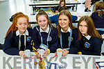 Presentation Tralee students, Emma Buckley, Ciara Bowler, Caoimhe Leahy and Clodagh Houlihan at the ECO UNESCO Young Environmental Ideas Fest in Mercy Mounthawk environmental conference at the school on Thursday