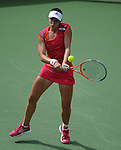 Christina McHale retires at the Western and Southern Financial Group Masters Series in Cincinnati on August 14, 2012