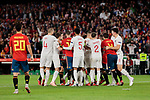 Spain's players and England's players have words during UEFA Nations League 2019 match between Spain and England at Benito Villamarin stadium in Sevilla, Spain. October 15, 2018. (ALTERPHOTOS/A. Perez Meca)