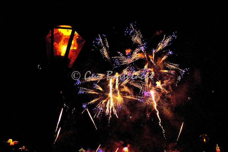 Fireworks at the Rose and Crown