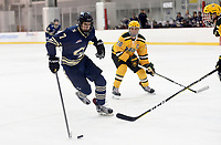 GW's Justin Storer (7) skates into the offensive end. George Mason defeated George Washington 5-2 on 9-22-18.<br />