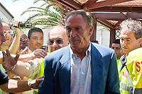 Presentazione alla stampa il nuovo allenatore del Pescara calcio Zdenek Zeman.<br /> The presentation to the press the new coach of Pescara soccer Zdenek Zeman.<br /> Foto &copy; DiLoreto