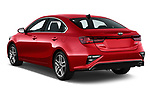 Car pictures of rear three quarter view of a 2019 KIA Forte EX 4 Door Sedan angular rear