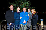 Fergal Grimes (General Manager), Marie O'Connell (Dir of Nursing Palliative Care Services Kerry), Joe Hennebery (Chairman), Dr Patricia Sheehan (Consultant Palliative Medicine Kerry) and Deirdre Walsh (MC) at the turning on, of the lights on the University Hospital Kerry's Christmas Tree