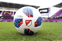 Orlando, Florida - Saturday January 13, 2018: 2018 MLS adidas Nativo match ball. Match Day 1 of the 2018 adidas MLS Player Combine was held Orlando City Stadium.