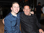 Ryan Hughes and Graham Dooley pictured at John Wallace's 30th birthday in Brú. Photo: www.pressphotos.ie