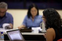 """Defesa de tese da doutoranda SHEILLA BORGES DOURADO, intitulada """"PROTEÇÃO DOS CONHECIMENTOS TRADICIONAIS NA PAN-AMAZÔNIA"""", sob a orientação do Prof. Dr. José Heder Benatti. A banca examinadora será composta pelos Professores Doutores: José Heder Benatti (Orientador/UFPA),  Alfredo Wagner Berno de Almeida (UEA), Rosa Elizabeth Acevedo Marin (NAEA), Noemi Sakiara Miyasaka Porro (PPGAA) e Eliane Cristina Pinto Moreira (PPGD/UFPA).<br /> Belém, Pará, Brasil.<br /> Foto Paulo Santos<br /> 29/10/2014."""