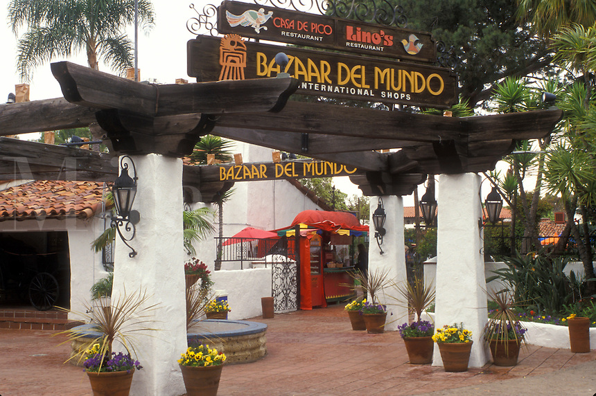 San Diego, California, CA, Bazaar Del Munde at Old Town San Diego State Historic Park in Old Town San Diego.