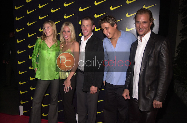 Kelly Rutherford, Kristen & Lance Armstrong, Erik Palladino and Matthew McConaughey