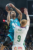 Movistar Estudiantes Sylven Landesberg and Unicaja Malaga  Alberto Diaz during Liga Endesa match between Movistar Estudiantes and Unicaja Malaga at Wizink Center in Madrid , Spain. March 04, 2018. (ALTERPHOTOS/Borja B.Hojas) /NortePhoto.com NORTEPHOTOMEXICO