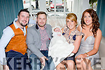 James Quilligan and Amanda Buckley Killarney celebrate the christening of their daughter Jade in the Killarney Avenue Hotel on Sunday with her god parents Michael Coffey and Christina Buckley
