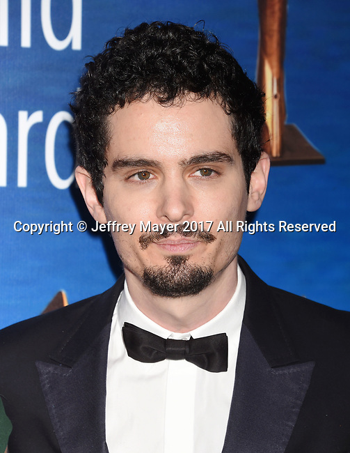 BEVERLY HILLS, CA - FEBRUARY 19: Director Damien Chazelle attends the 2017 Writers Guild Awards L.A. Ceremony at The Beverly Hilton Hotel on February 19, 2017 in Beverly Hills, California.
