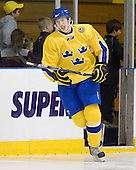 Petter Granberg (Sweden - 8) - The Merrimack College Warriors defeated the visiting Sweden Under 20 team 4-1 on Tuesday, November 2, 2010, at Lawler Arena in North Andover, Massachusetts.