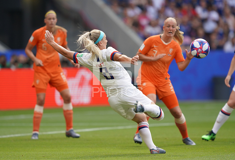 DECINES-CHARPIEU, FRANCE - JULY 07: Julie Ertz #8 during the 2019 FIFA Women's World Cup France Final match between Netherlands and the United States at Groupama Stadium on July 07, 2019 in Decines-Charpieu, France.
