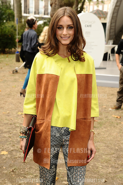 Olivia Palermo arriving at the Unique catwalk show as part of London Fashion Week SS13, Top Shop Venue, Bedford Square, London. 16/09/2012 Picture by: Steve Vas / Featureflash