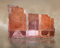 Roman fresco wall decorations of  Room E9, Rome. Museo Nazionale Romano, 130-140AD( National Roman Museum), Rome, Italy. Against an art background.