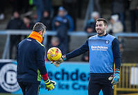 Goalkeeper Scott Brown of Wycombe Wanderers during the Sky Bet League 2 match between Wycombe Wanderers and Newport County at Adams Park, High Wycombe, England on 2 January 2017. Photo by Andy Rowland.