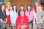 Pupils from Diane Crean's 6th class Ballincrossig NS Ballyduff who were confirmed in St Peter & Pauls Church, ballyduff on Monday by Fr Tadgh Fitzgerald assisted by Fr Brendan Walsh PP  Ballyduff/Causeway. L-r: Lauren O'Shea, Dianna Crean (teacher), Cora O'Connor, Troy Baitson, Mairead Brosnan, Fr Brendan Walsh (PP) and Rebecca Reilly.
