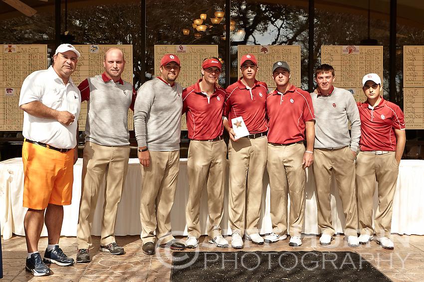 SAN ANTONIO, TX - FEBRUARY 12, 2013: The University of Texas at San Antonio Roadrunners Men's Golf Team hosts the UTSA Oak Hills Invitational Golf Tournament at Oak Hills Country Club. (Photo by Jeff Huehn)