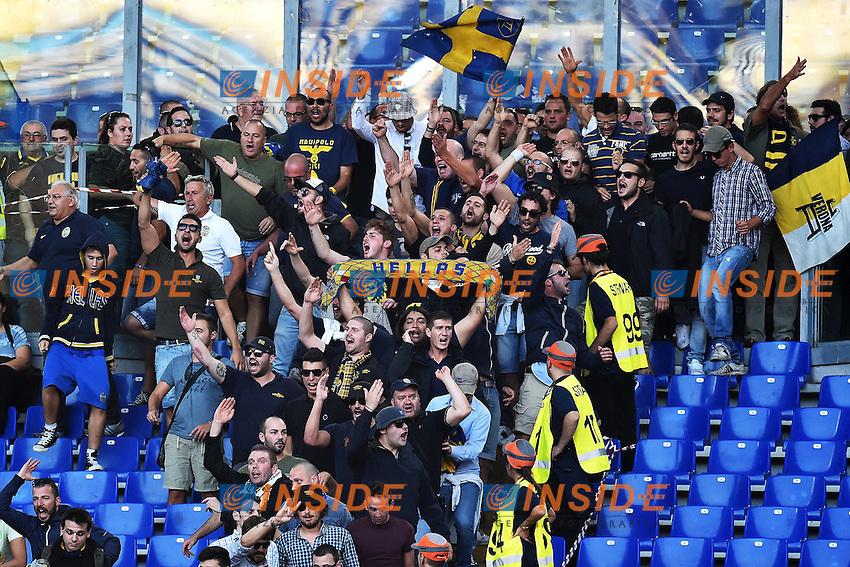 Tifosi Verona Supporters <br /> Roma 27-09-2014 Stadio Olimpico, Football Calcio Serie A AS Roma - Hellas Verona. Foto Andrea Staccioli / Insidefoto