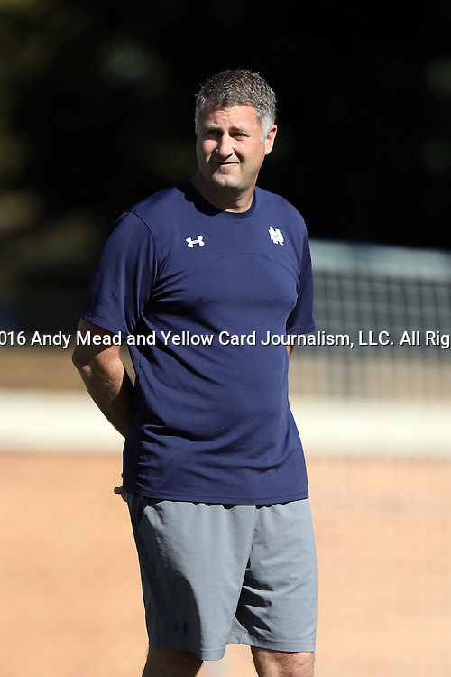 06 November 2016: Notre Dame assistant coach BJ Craig. The Wake Forest University Demon Deacons hosted the University of Notre Dame Fighting Irish at Spry Stadium in Winston-Salem, North Carolina in a 2016 NCAA Division I Men's Soccer match and an Atlantic Coast Conference Men's Soccer Tournament quarterfinal. Wake Forest won the game 1-0.