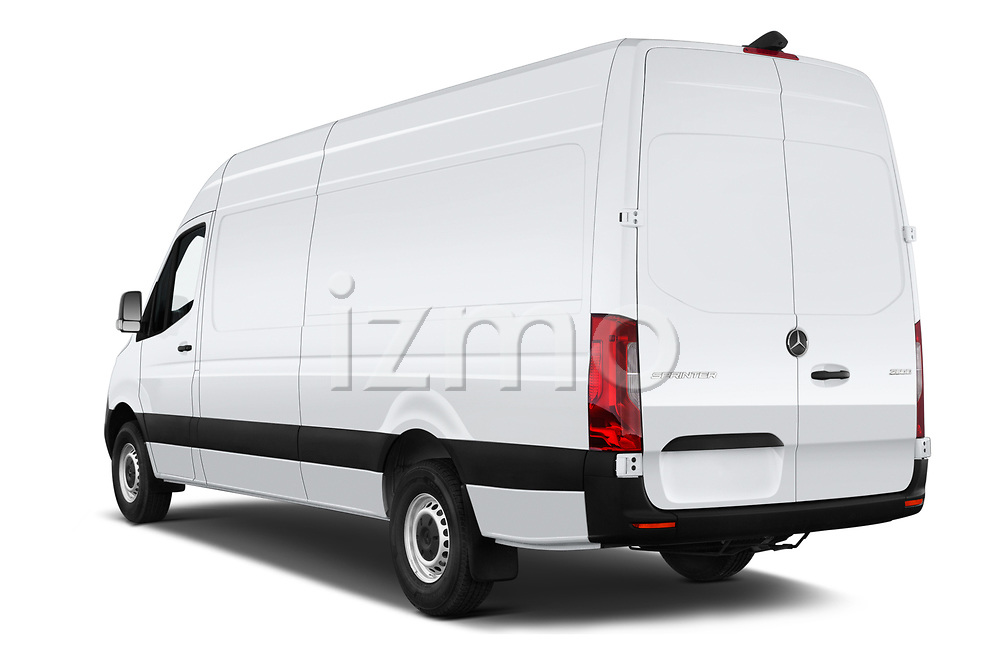 Car pictures of rear three quarter view of a 2019 Mercedes Benz Sprinter-Cargo-Van Base 4 Door Cargo Van angular rear