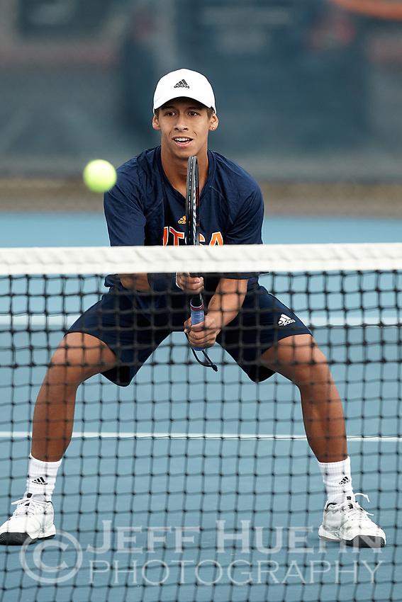SAN ANTONIO, TX - JANUARY 25, 2019: The University of Texas at San Antonio Roadrunners defeat the Prairie View A&M University Panthers 6-1 at the UTSA Tennis Center. (Photo by Jeff Huehn)