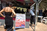Roma, 3 Giugno 2005.Centro sociale Forte Prenestino.Conferenza stampa e assemblea dopo l'assalto fascista di ieri con un ragazzo accoltellato.Nella foto Paolo Cento.Social centerForte Prenestino.Press conference after a fascist assault  with boy stabbed
