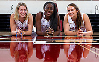 Seniors members of the Stanford Women's basketball team photo. Photo taken on Wednesday, October 2, 2013