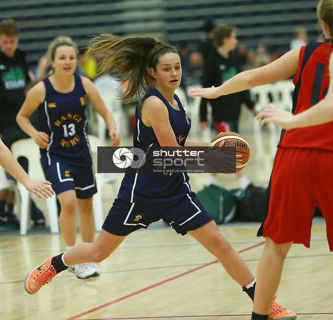 NELSON, NEW ZEALAND - AUGUST 29: 2015 Junior Secondary Schools Basketball Tournament on August 29, at Saxton Stadium. 2015 in Nelson, New Zealand. (Photo by: Evan Barnes Shuttersport Limited)