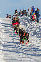 Jeff Deeter on Cordova St. hill during the Anchorage start day of Iditarod 2018 on Cordova St. hill during the Anchorage start day of Iditarod 2019