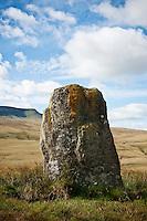 Waun Leuci standing stone, Black Mountain, Brecon Beacons national park, Wales