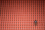 HOUSTON, TX - DECEMBER 11:  A Wake Forest University fan looks on during the Division I Men's Soccer Championship held at the BBVA Compass Stadium on December 11, 2016 in Houston, Texas.  Stanford defeated Wake Forest 1-0 in a penalty shootout for the national title. (Photo by Justin Tafoya/NCAA Photos via Getty Images)