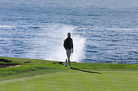 Jerry Kelly (USA) on the 7th green at Pebble Beach Golf Links during Saturday's Round 3 of the 2017 AT&amp;T Pebble Beach Pro-Am held over 3 courses, Pebble Beach, Spyglass Hill and Monterey Penninsula Country Club, Monterey, California, USA. 11th February 2017.<br /> Picture: Eoin Clarke | Golffile<br /> <br /> <br /> All photos usage must carry mandatory copyright credit (&copy; Golffile | Eoin Clarke)