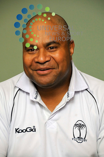 Sam Domoni, tour head coach for the Fiji rugby union team, announces the team line up, complying with the 48 hour ruling, for the match against Scotland this Saturday. Edinburgh - Derek Fett - Universal News and Sport 12th Nov 09.