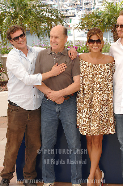 """Joaquin Phoenix (left), Robert Duvall, Eva Mendes & director James Gray at photocall for their new movie """"We Own the Night"""" at the 60th Annual International Film Festival de Cannes..May 25, 2007  Cannes, France..© 2007 Paul Smith / Featureflash"""