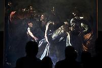 """Roma 15/06/2012 Presentazione del restauro de """"La Resurrezione di Lazzaro"""" di Caravaggio, restaurato al Museo di Roma Palazzo Braschi.Foto Insidefoto"""