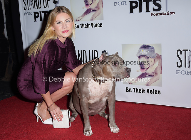 Elisha Cuthbert and Angel attends The 4th Annual Stand Up for Pits event at the Hollywood Improv in West Hollywood, California on November 02,2014                                                                               © 2014 Hollywood Press Agency