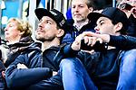Nuernbergs Reimer und Pfleger verfolgten das Derby von der Tribuene aus beim Spiel in der DEL, ERC Ingolstadt (blau) - Nuernberg Ice Tigers (weiss).<br /> <br /> Foto &copy; PIX-Sportfotos *** Foto ist honorarpflichtig! *** Auf Anfrage in hoeherer Qualitaet/Aufloesung. Belegexemplar erbeten. Veroeffentlichung ausschliesslich fuer journalistisch-publizistische Zwecke. For editorial use only.