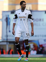 Pictured: David N'Gog of Swansea making his debut. 01 February 2014<br /> Re: Barclay's Premier League, West Ham United v Swansea City FC at Boleyn Ground, London.