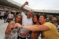 Pictured: Revellers. Wednesday 02 July 2014<br /> Re: Kings of Leon at the Liberty Stadium, Swansea, south Wales.