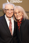 Sheldon Harnick and Margery Gray Harnick attends the Roundabout Theatre Company's 2019 Gala honoring John Lithgow at the Ziegfeld Ballroom on February 25, 2019 in New York City.