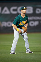 Siena Saints left fielder Alex Tuccio (20) during a game against the Stetson Hatters on February 23, 2016 at Melching Field at Conrad Park in DeLand, Florida.  Stetson defeated Siena 5-3.  (Mike Janes/Four Seam Images)