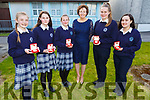 Student of the Year awards went to, l to r:  Anna McSweeney (1st year), Laura Walsh (2nd Year), Cerys Rider (3rd Year), Katherina Broderick (Principial), Joyce O'Connor (5th Year) and Aisling Teahan (6th Year) at the the Presentation Secondary School Castleisland's Students Awards evening on Monday.