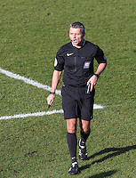 Referee Iain Williamson during the Sky Bet League 2 match between Wycombe Wanderers and Mansfield Town at Adams Park, High Wycombe, England on 25 March 2016. Photo by Andy Rowland.