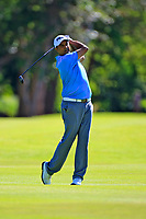 Arjun Atwal (IND) in action during the first round of the Afrasia Bank Mauritius Open played at Heritage Golf Club, Domaine Bel Ombre, Mauritius. 30/11/2017.<br /> Picture: Golffile | Phil Inglis<br /> <br /> <br /> All photo usage must carry mandatory copyright credit (&copy; Golffile | Phil Inglis)