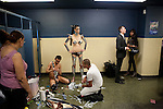 Gisele getting ready, Latex Ball, Manhattan, 2008. Photograph by Gerard H. Gaskin.